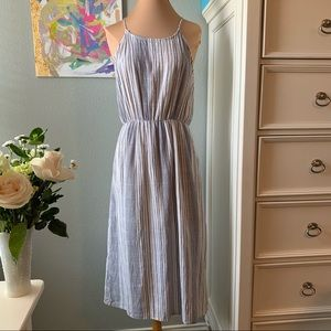 Everly Cotton Striped Open Back Dress